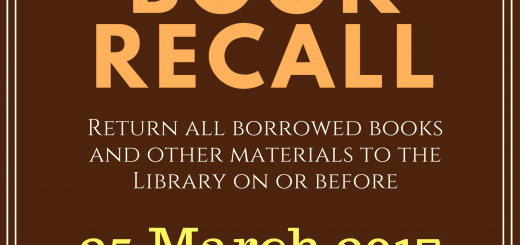Book recall - march 2017